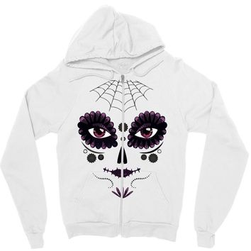 girl day of the dead Zipper Hoodie