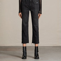 ALLSAINTS US: Womens Philly Embroidered Boys Jeans (Washed Black)