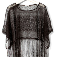 STRASS TOP WITH FRINGING - T-SHIRTS AND TOPS - WOMAN -  United Kingdom