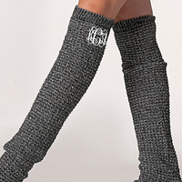 Monogrammed Black & White Blend Long Boot Warmer