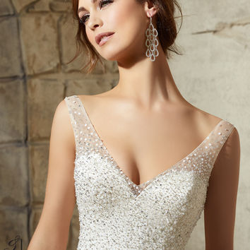 Mori Lee Beaded Bridal Sash 11210