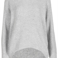 Knitted Angora Mix Rib Jumper