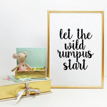 photograph about Let the Wild Rumpus Start Printable titled Great Where by The Wild Elements Are Little one Items upon Wanelo