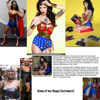 SALE...436.00... Pre-Halloween Sale! (reg. price will return to 545. in Oct.) ... Full Wonder Woman Costume WITH CAPE Hurry...