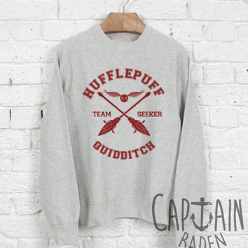 Hufflepuff quidditch sweatshirt harry potter unisex sweatshirts