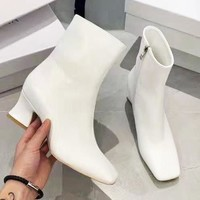 BY FAR Popular Women Leather Heels Shoes Boots