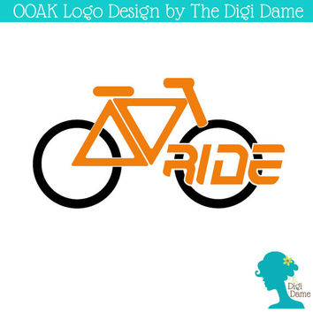 OOAK Premade Logo Design: Road Bicycle/Cycling in Orange and Black