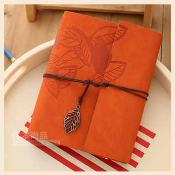 6 Color DIY Handmade Photography for Kids Scrapbooking Wedding Family  creative Antique Spiral Leather Kraft Paper Photo Albums