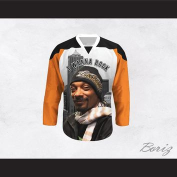 Snoop Dogg 20 I Wanna Rock Cannabis Hockey Jersey Design 5