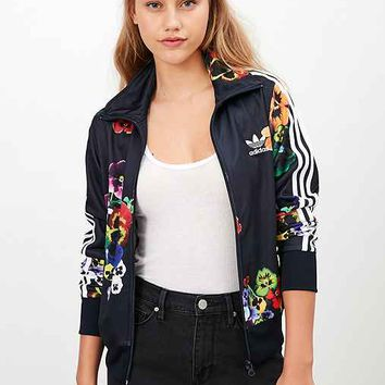 adidas firebird flower track top