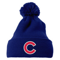 Chicago Cubs Embroidered Knit Pom Cap