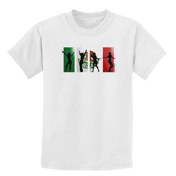 Mexican Flag - Dancing Silhouettes Childrens T-Shirt by TooLoud