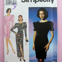 Party Dress, Formal Wear, Evening Dress, Misses' Size 10, 12, 14 Simplicity 8183 Sewing Pattern Uncut