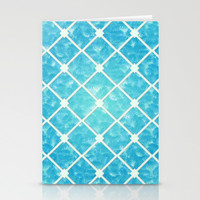 Brushed Blue Hues Stationery Cards by KCavender Designs