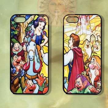 Snow White and Prince Couple Case-iPhone 5, iphone 4s, iphone 4 case, ipod 5, Samsung GS3-Silicone Rubber or Hard Plastic Case, Phone cover