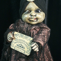 Creepy Prop Doll Haunted Horror Gypsy OOAK Altered Art Doll Gothic Dead Monster Freak Zombie Halloween Scary Odd Weird By L.Cerrito