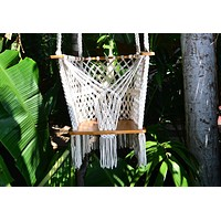 Handmade Baby Swing Off-White Cotton Indoor/Outdoor Swing