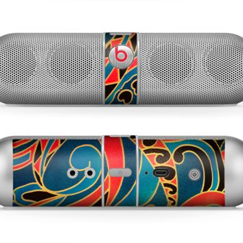 The Orange & Blue Abstract Shapes Skin for the Beats by Dre Pill Bluetooth Speaker