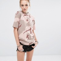 Reclaimed Vintage Oversized Boyfriend T-Shirt In Camo