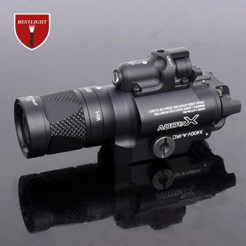 Tactical X400V Pistol Light Combo Red Laser Constant Momentary Strobe Output Weapon Rifle Gun Flashlight