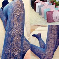 Hollow Out Pantyhose Stylish Vintage Lace Socks Stockings [107233476633]