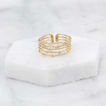 Luxury Layered Ring in Gold