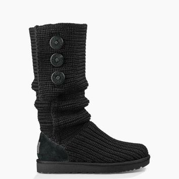 CHEN1ER UGG Australia Women's Classic Cardy Boot | Black | Grey