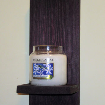 Rustic Wall Sconce, Candle Holder, Candle Sconce, Black Cherry wall sconce