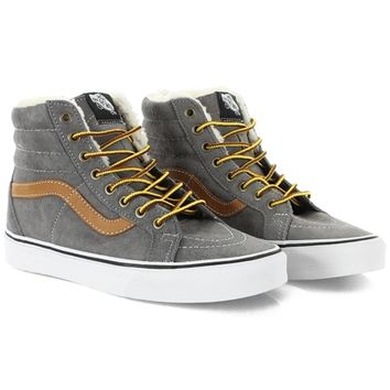 Baskets Vans Sk8 Hi Reissue Pig Suede Fleece Smoked Prl - LaBoutiqueOfficielle.com
