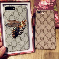 GUCCI Fashion Bee iPhone Phone Cover Case For iphone 6 6s 6plus 6s-plus 7 7plus