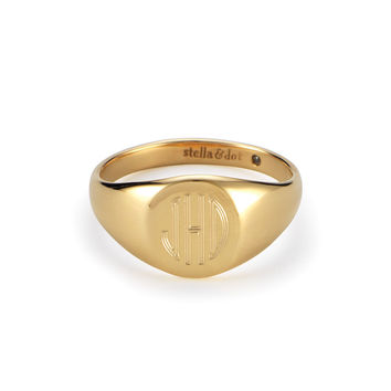 Signature Engravable Signet Ring - 5