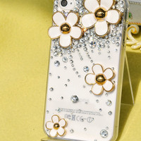 Little Daisy  Diamonds  Transparent case  loves iphone case  iPhone case iPhone 4 case iPhone 4s case iPhone cover