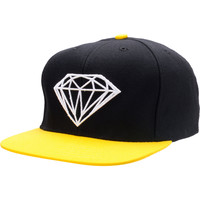 Diamond Supply Brilliant Black & Yellow Snapback Hat at Zumiez : PDP