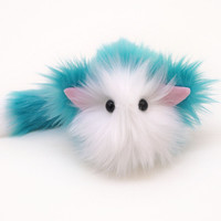 Cosmo the Aqua and White Cat Stuffed Animal Plush Toy