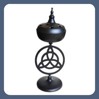 Triquetra Black Incense Burner
