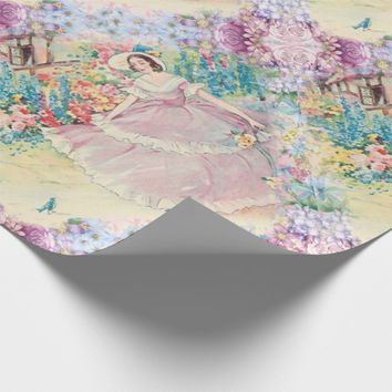 Giftwrap Vintage French Country Garden Watercolor Wrapping Paper