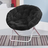 Saucer Chair for Kids, Teens Saucer Chair, Black Game Room Chair