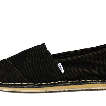 Toms Men's Stichout Black Corduroy Casual Shoes