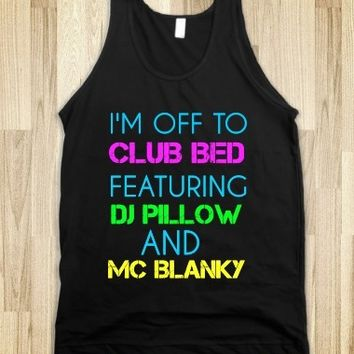 Supermarket: Club Bed Tank Top from Glamfoxx Shirts