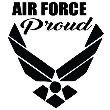 Air Force Proud Vinyl Graphic Decal