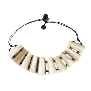Yves Saint Laurent Vintage rive gauche bone collar necklace