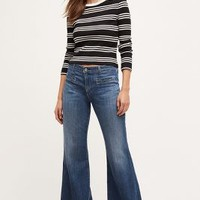 AG Lana Wide-Leg Jeans in Tinted Denim Size: