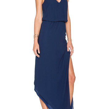 Blue Cami Maxi Chiffon Dress