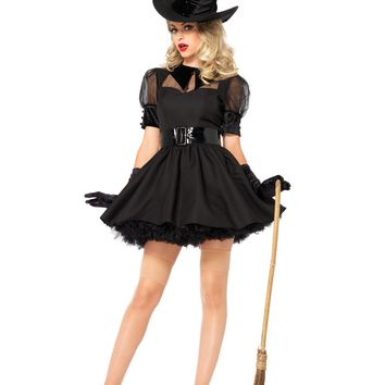 Black Bewitching Witch Dress Costume (Small,Black)