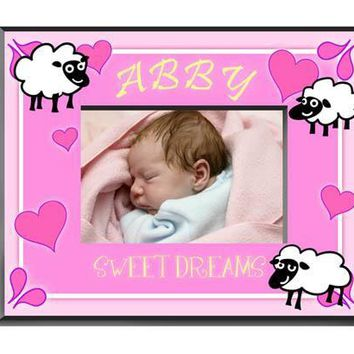 Personalized  Children's Frames - Sheep Girl