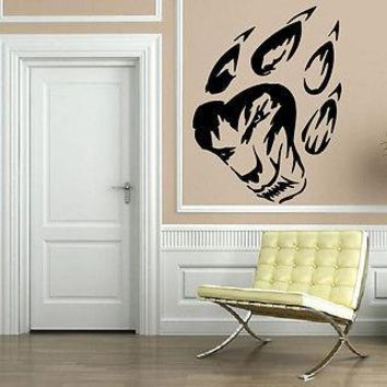 WOLF PAW TRIBAL DECOR Wall MURAL Vinyl Art Sticker M263