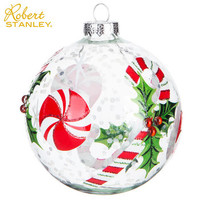 Peppermint & Holly Confetti Ball Ornament | Hobby Lobby | 5344189