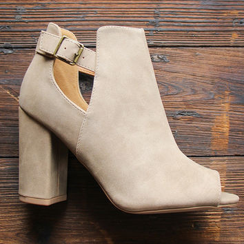 The Whitney Peep Toe Booties