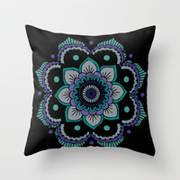 Mandala  Throw Pillow by Ashley Hillman