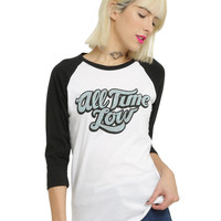 All Time Low Graffiti Girls Raglan